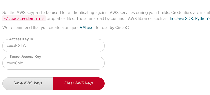 Add AWS Keys